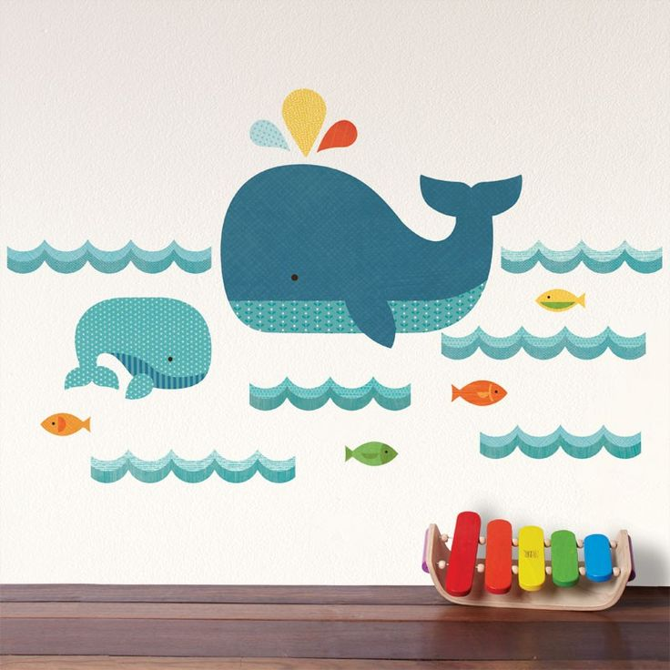 Petit Collage | Whale Baby Fabric Wall Decal
