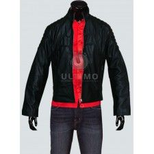 Batman Begins Movie Black Slimfit Leather Jacket