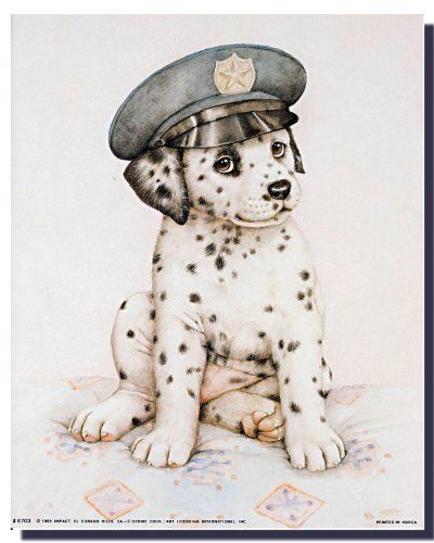 Wall posters are a fun way to spruce up any room in the home. Use this cute Dalmatian puppy art print poster which will surely bring joy into your home and it will be a great addition for your kid's room. This poster delivers a sharp vivid image with a high degree of color accuracy which ensures long lasting beauty of the product. Order today and enjoy your surroundings.