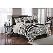 ZEBRA-Print BEDDING SET (8-piece) _____________________________ Reposted by Dr. Veronica Lee, DNP (Depew/Buffalo, NY, US)
