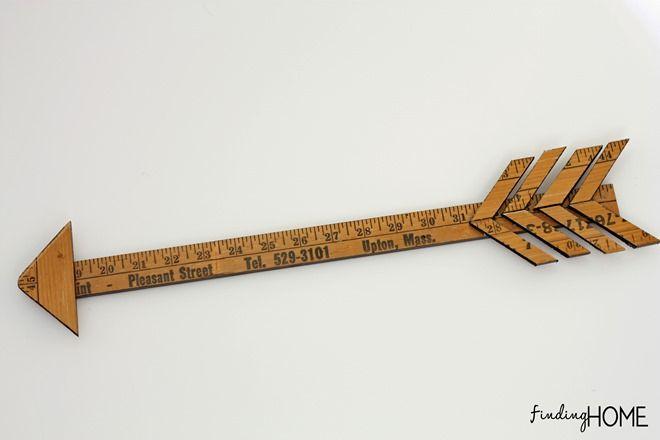 TutorialDIYVintageYardstickArrow thumb DIY Tutorial: Vintage Yardstick Arrow