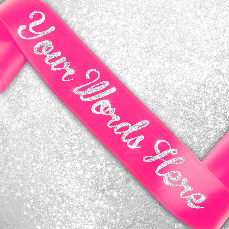 Custom Sashes with Glitter Text OurCustom Bride, Hens & Bridal Party Custom Glitter Sashes are all the latest trend in wedding must haves! Gorgeous, quality satin sashes with glitter prin...