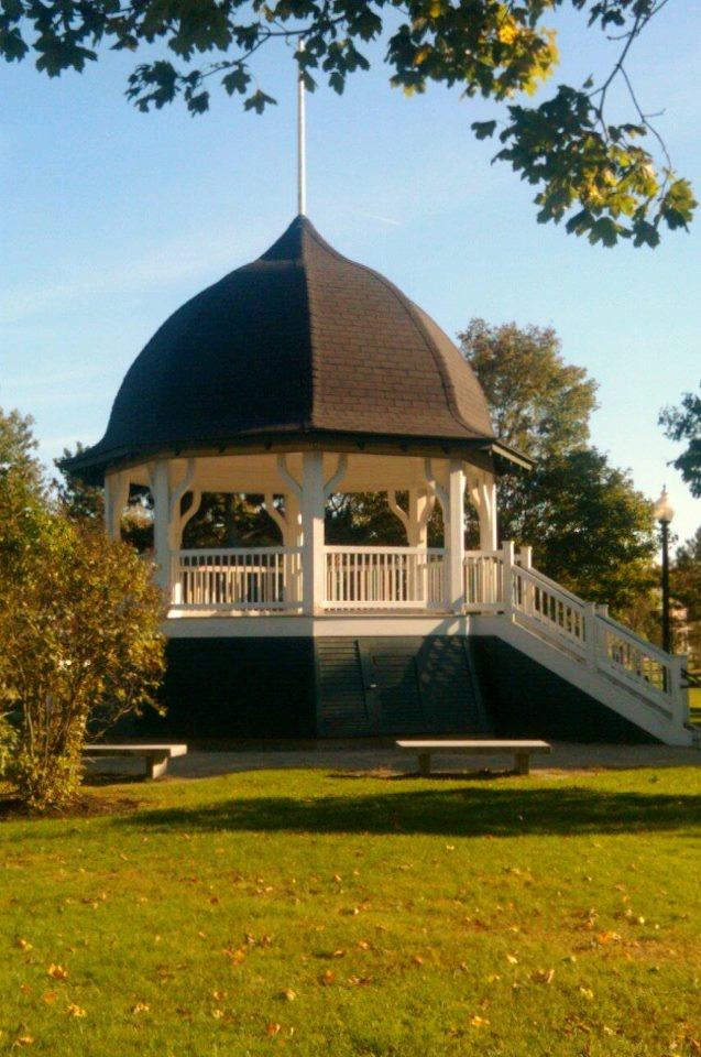The Gazebo in Rochester, NH park