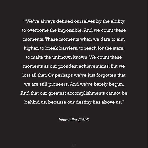 Quotes from Interstellar movie  #interstellar #moviequote #interstellarmovie