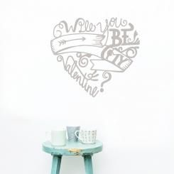 "A shabby chic style decoration for your walls! Vintage wallsticker inspired by ""Valentine's day"" for romantic love birds!"