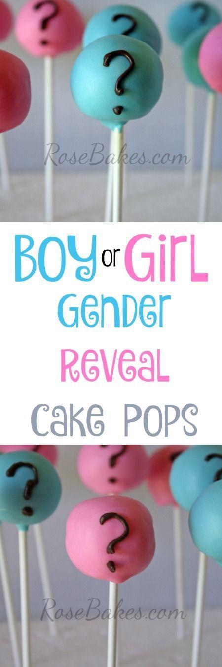 Gender Reveal Cake Pops | RoseBakes.com