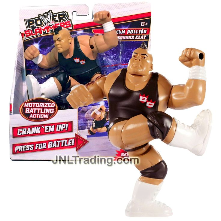 Mattel Year 2012 WWE Power Slammers Series 4 Inch Tall Motorized Wrestler Battling Action Figure - Steam Rolling BRODUS CLAY (No Batteries Required)