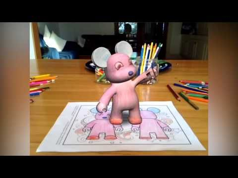 Print, color and see your drawing in beautifully hand-animated 3D worlds. Free android and itunes app - colAR mix app