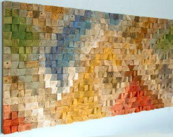 Large Rustic wood wall Art wood wall sculpture by ArtGlamourSligo