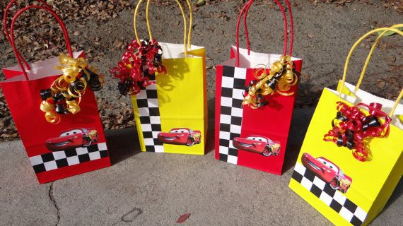 12 Cars Birthday Party Favor Bags by FantastikCreations on Etsy, $20.00