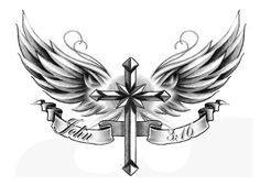 ANGEL AND CROSS TATTOOS | TattooSales.com - The World's Best Temporary Tattoos!!!!!