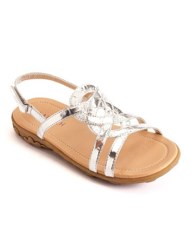 $9.99 Take a look at this Launch Silver Strappy Sandal by Launch on #zulily today!
