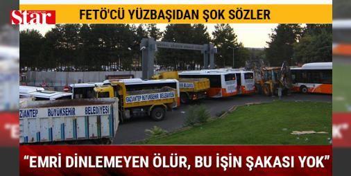 FETÖ'cü yüzbaşı İrfan Mızrak: Emri dinlemeyen ölür, bu işin şakası yok: Gaziantep'te Fetullahçı Terör Örgütü/Paralel Devlet Yapılanması'nın (FETÖ/PDY) darbe girişimi sırasında 5. Zırhlı Tugay Komutanlığında yaşanan eylemlere yönelik hazırlanan iddianamede tutuklu sanıklardan dönemin lojistik ikmal subayı eski yüzbaşı İrfan Mızrak'ın,  16 temmuz 2016 itibarıyla ordu yönetime el koymuştur, emri dinlemeyen ölür, bu işin şakası yoktur.  sözlerine yer verildi.   Gaziantep Cumhuriyet Başsavcılığı…