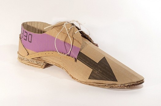 Creative Shoes Made From Recycled Beer Packaging [Pics] Mark_OBrien_recycled_cardboard_shoes5 – PSFK