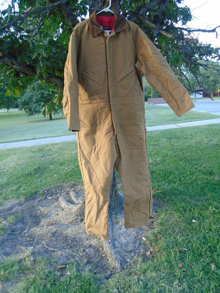 "53"" chest  Walls Zero-Zone Coveralls Men's Tan Quilt Insulated Medium #Walls"