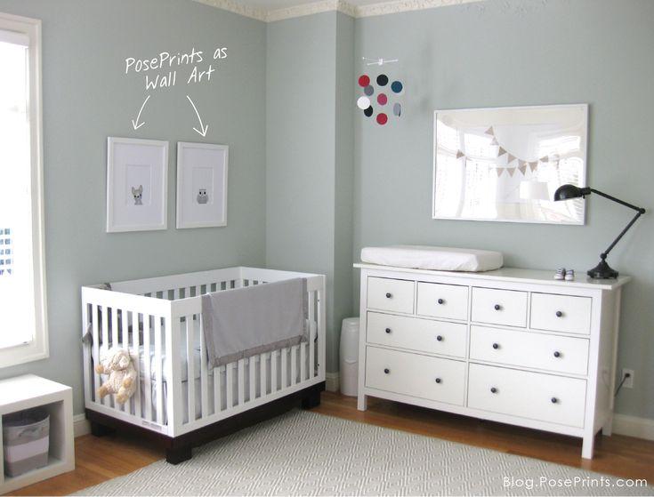 Nursery Wall Art poseprints nursery wall art: french bulldog and owl drawings in a