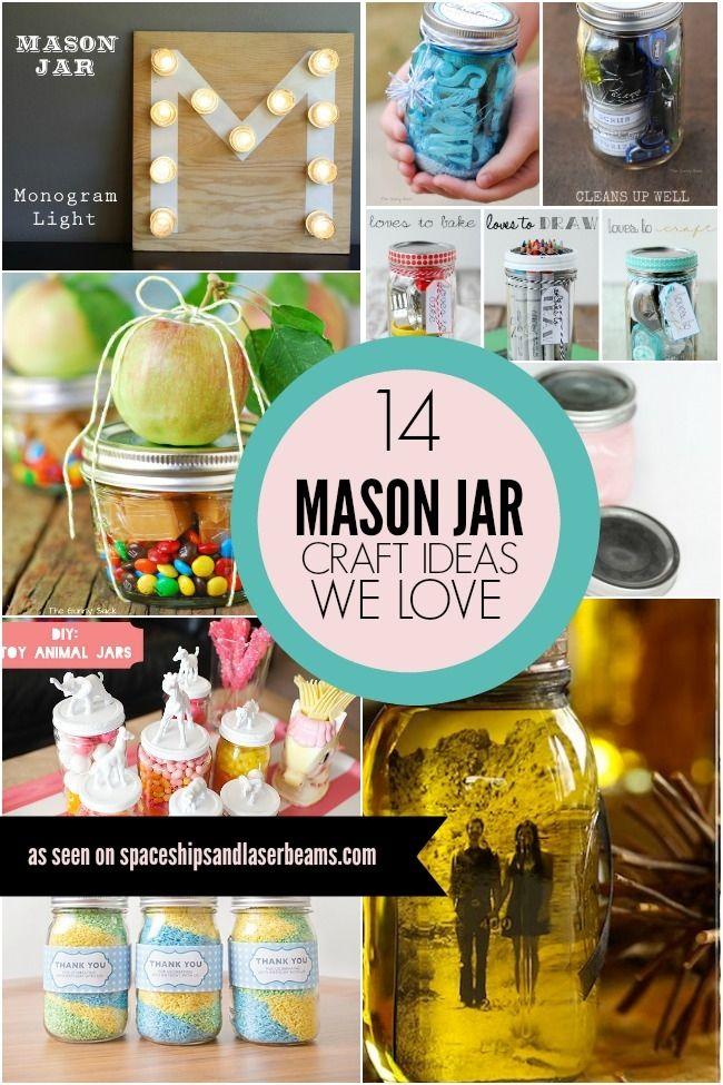 14 Mason Jar Craft Ideas Mason