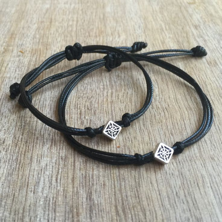 Couples Bracelets, Waxed Cord Bracelets, His and her Bracelet, Couples Jewelry, Couples Shower, His and Hers Gifts, Love Couple Bracelet by Fanfarria on Etsy https://www.etsy.com/listing/266129137/couples-bracelets-waxed-cord-bracelets