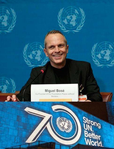 """Miguel Bosé,sempre in prima linea per la Pace nel mondo, obiettivo che da anni persegue con attività e azioni a livello mondiale, come""""Paz sin Fronteras"""""""