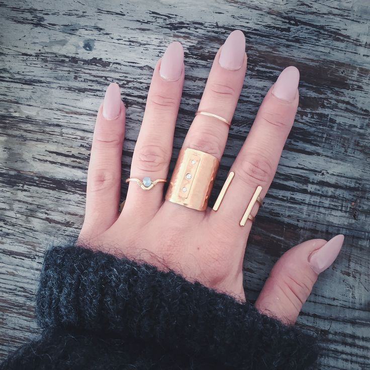 DARLING DETAILS • Muse Single Stone Ring • Heritage Diamond Cuff • Ija Double Ladder Ring