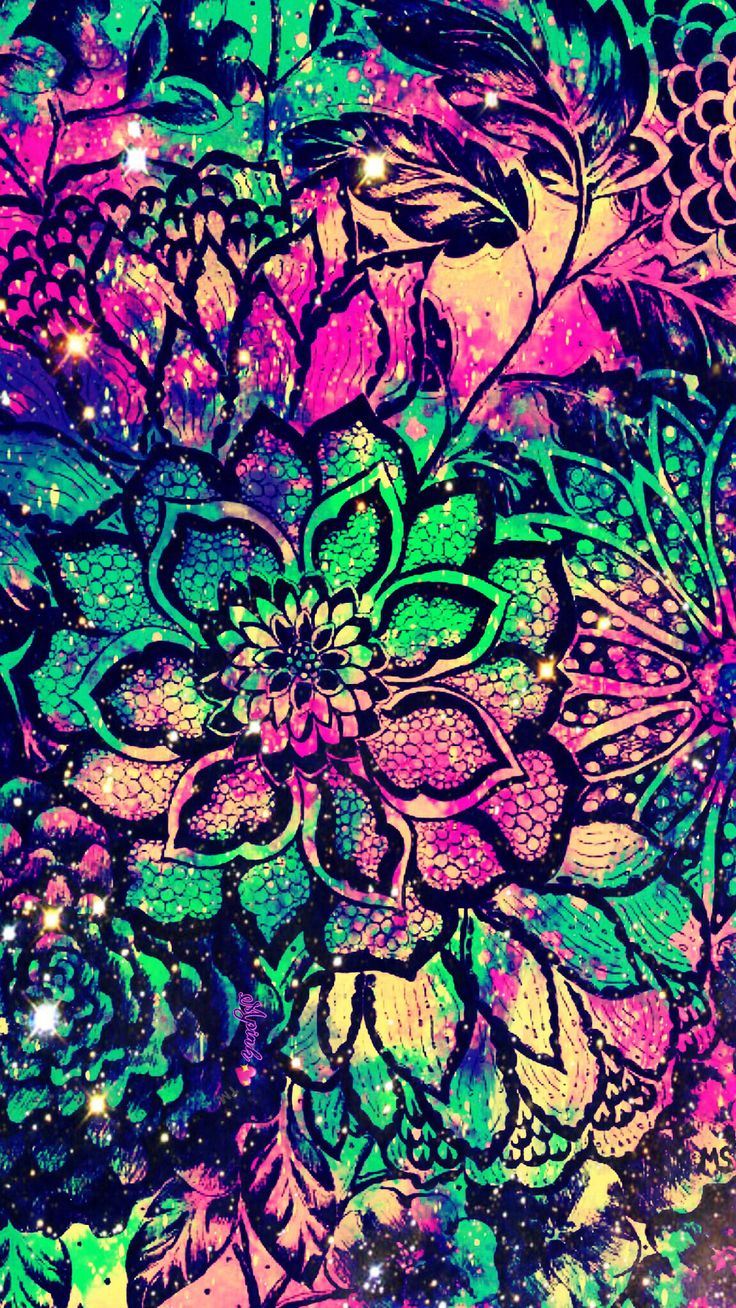 Tribal Cute Wallpaper Neon Flowersgalaxy Wallpaper Androidwallpaper