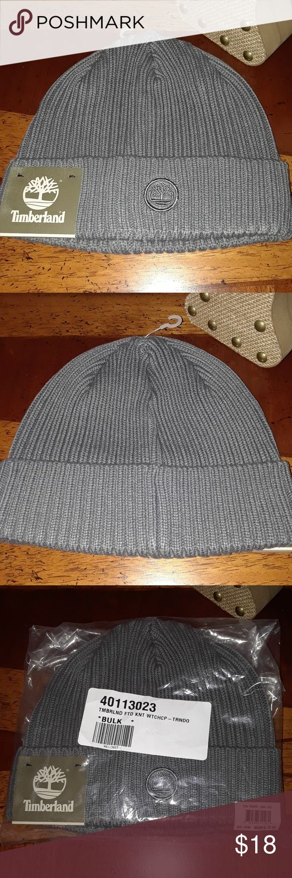 UNISEX Timberland Knit Hat Fitted grey Timberland Hat. One size fits most. Timberland Accessories Hats