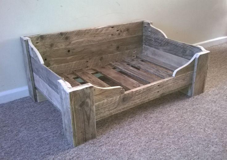 Bespoke dog bed made from reclaimed wood. www.facebook.com/remadeinnorfolk                                                                                                                                                     More