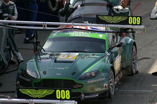 Drayson Racing Aston Martin Vantage Gt2 In The Pits Aston Martin Aston Martin Vantage Racing