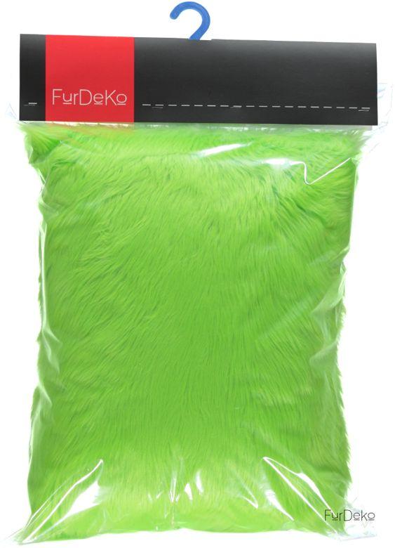 Poduszka dekoracyjna CZUPER zielony/Faux fur pillow CZUPER green