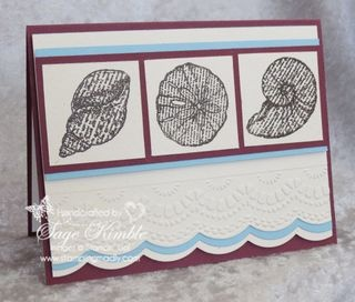 140 best images about cards fish sea and sea shells on for Stampin pretty craft room