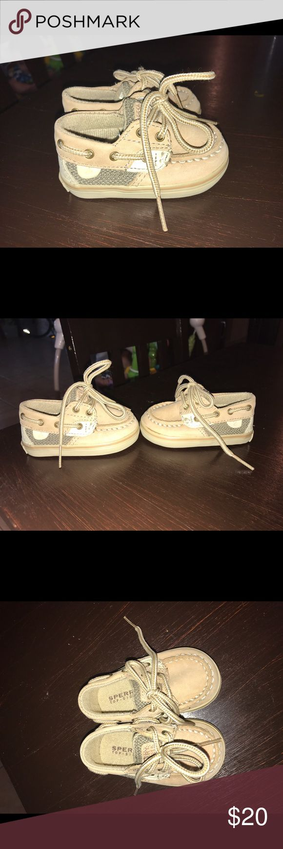 Sperrys Tan baby Sperrys in a size 1M Sperry Top-Sider Shoes Sneakers