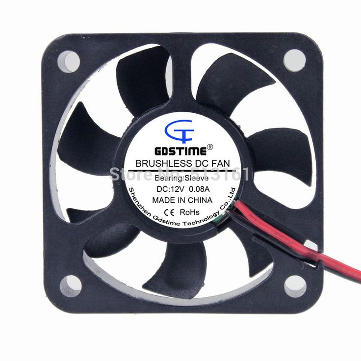10pcs/lot Gdstime 2Pin 5cm Brushless Cooling Fan 50x50x10mm 12V DC Cooler 50mm #Affiliate