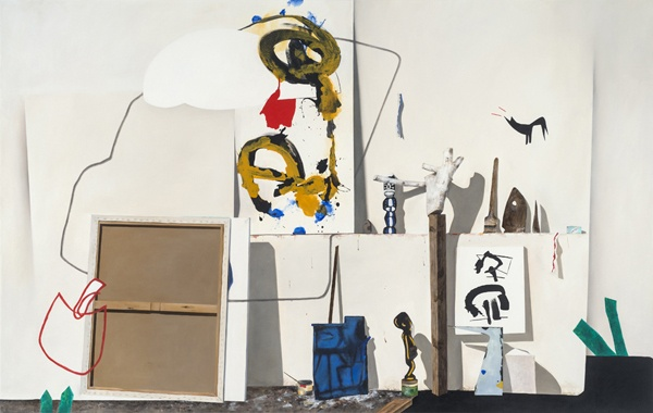 """WHAT HAS ALREADY BEEN SAID IS STILL NOT ENOUGH – 2011 Oil on canvas, 165cm x 260cm, 102"""" x 65""""  Studio: Gregor Hiltner  www.fionaackerman.com"""