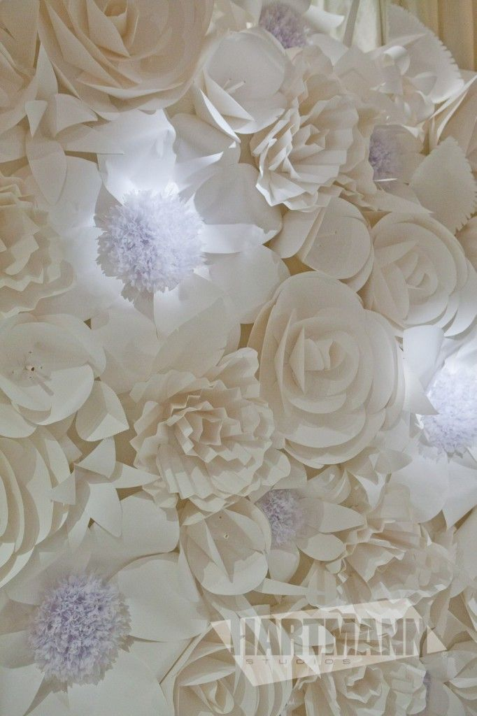 four weddings paper flower wall
