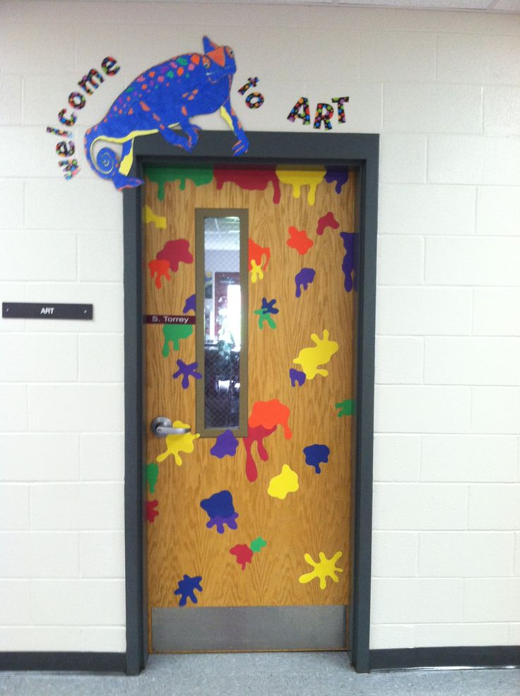 Classroom Wall Design For Elementary ~ Best art room doors images on pinterest rooms