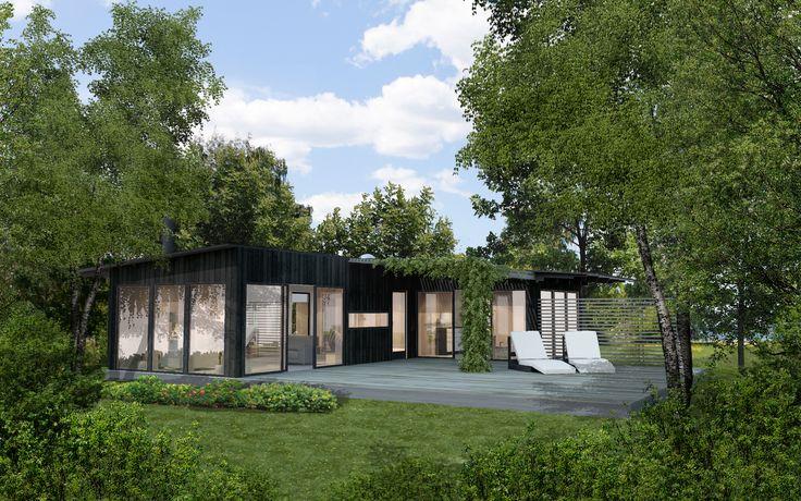 Exterior - Landet. www.sommarnojen.se #summerhouse #architecture #skandinaviskdesign #skandinaviskarkitektur #sommarhus #fritidshus #naturmaterial