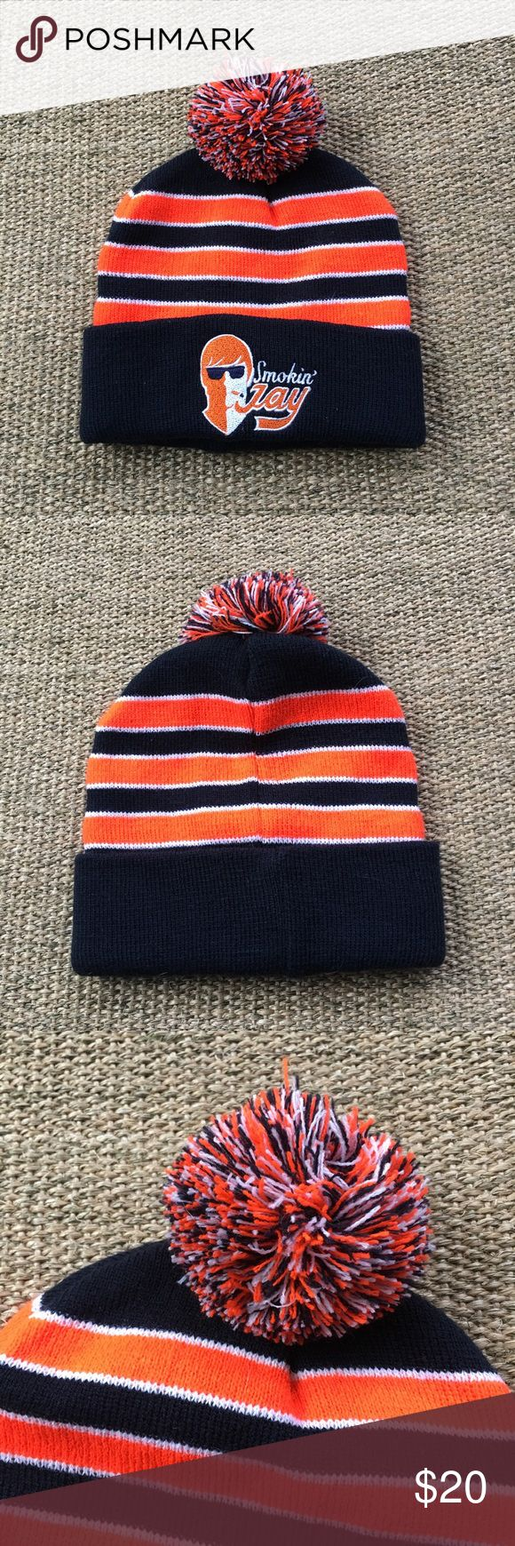 🆕 Chicago Bears Smokin' Jay Cutler Beanie Hat Brand new. 🐾 Comes from a smoke-free, but not pet-free home. 🚫 No trades. No holds. 📦 Fast shipping! 🙋🏻 Considering all reasonable offers! Accessories Hats