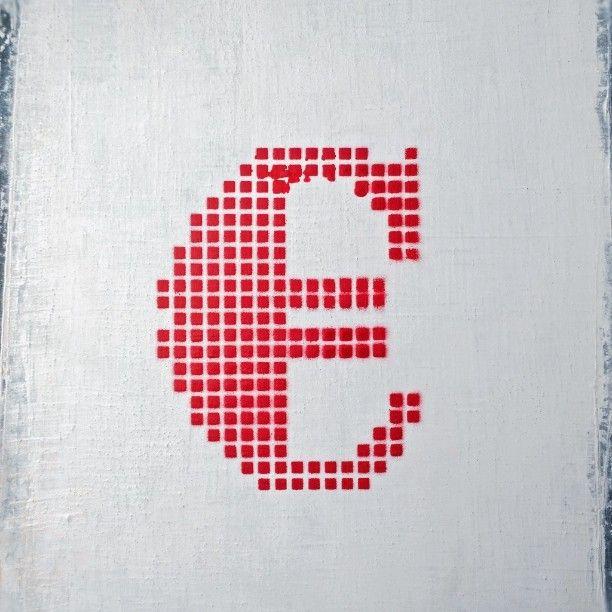 Red Euro #red #redpaint #redspraypaint #redeuro #redgrid #graffiti #streetart #urbanart #instagraffiti #streetarteverywhere #streetartphotography #streetartphoto #stencilart #stencil #grid #amsterdam #euro #eurosign #money #currency #sign #type #typography