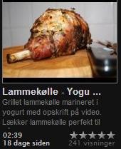 Mellemøst inspireret lammekølle marineret i yoghurt. Perfekt til grill..