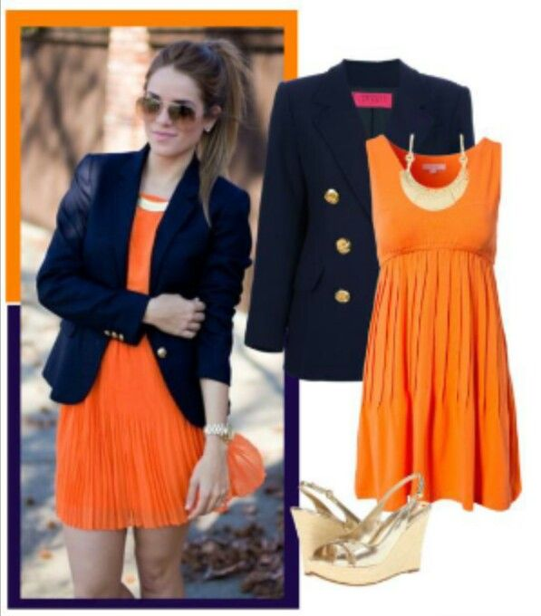 253 best images about Orange and Blue Fashion on Pinterest ...