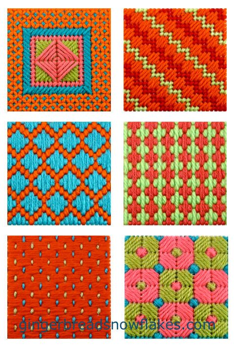Plastic Canvas: | Coaster size stitch samplers gingerbreadsn… | Flickr