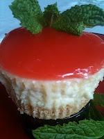 Hawaiian Guava Mini Cheesecakes