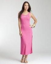 bebe Ribbed Logo Maxi Dress