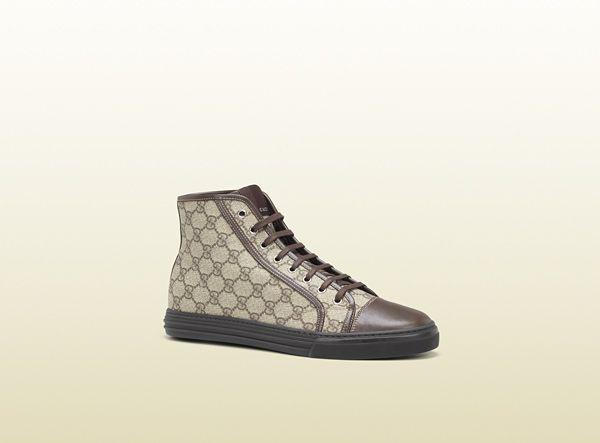 Zapatilla de sport alta con cordones - Gucci