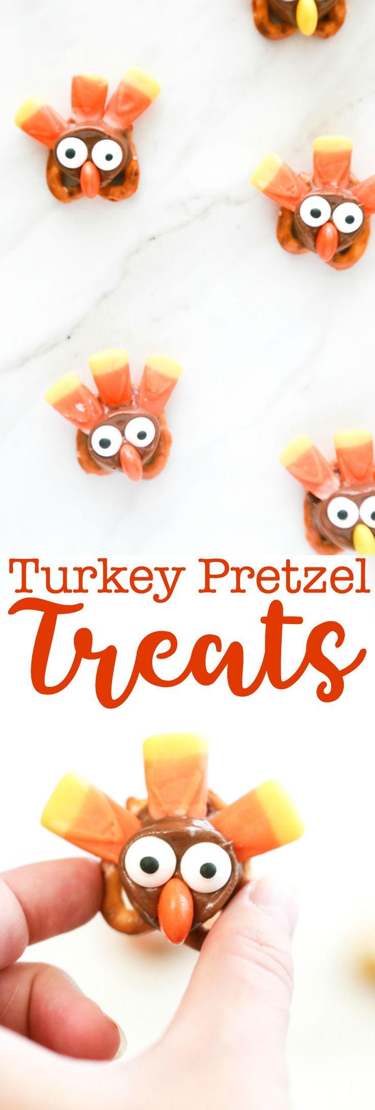 I'm totally in love with these Turkey Pretzel Treats for Thanksgiving. They're adorable, they're tasty, and they're so easy to make. #thanksgivingtreats #thanksgivingturkey