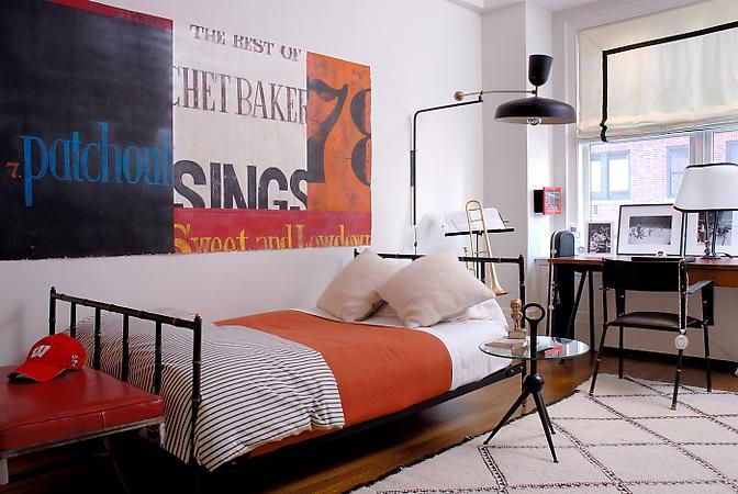 For the Young Man. Interior Designer: Julie Hillman.