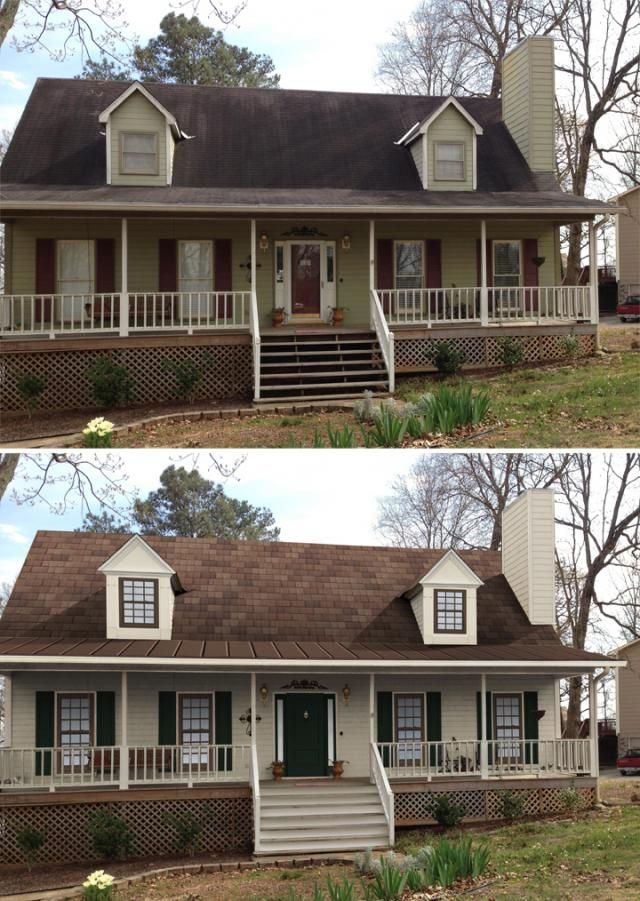 Best Renovation Images On Pinterest Exterior Remodel House - Home exterior remodeling before and after pictures