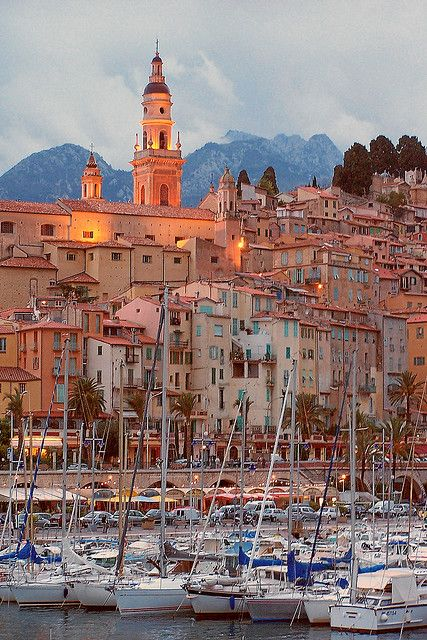 Menton, France. A short bus ride from Nice.