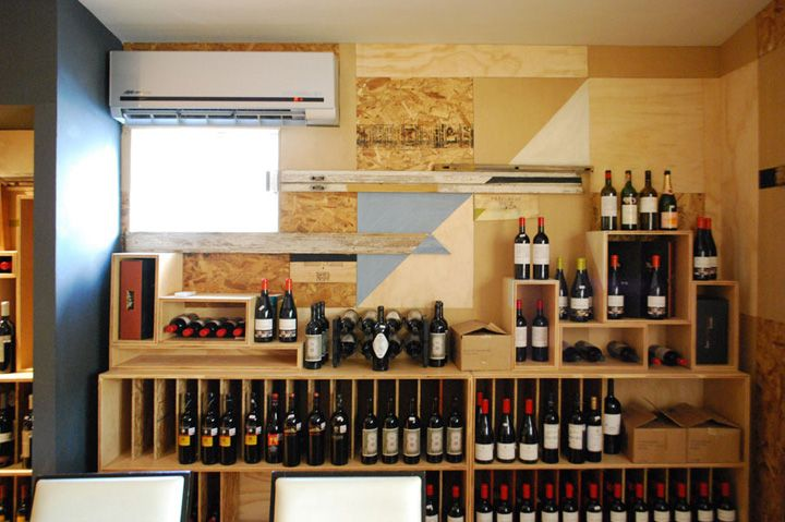 #Текстуры! Разное #дерево, крашенное и нет. WINE STORES! The Little Wine Market by Los Contratistas, San Pedro Garza García wine
