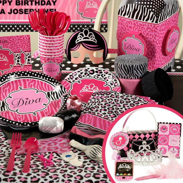 Leopard Print Baby Shower Supplies: Very Cute Pink Cheetah Print Theme Party Supplies